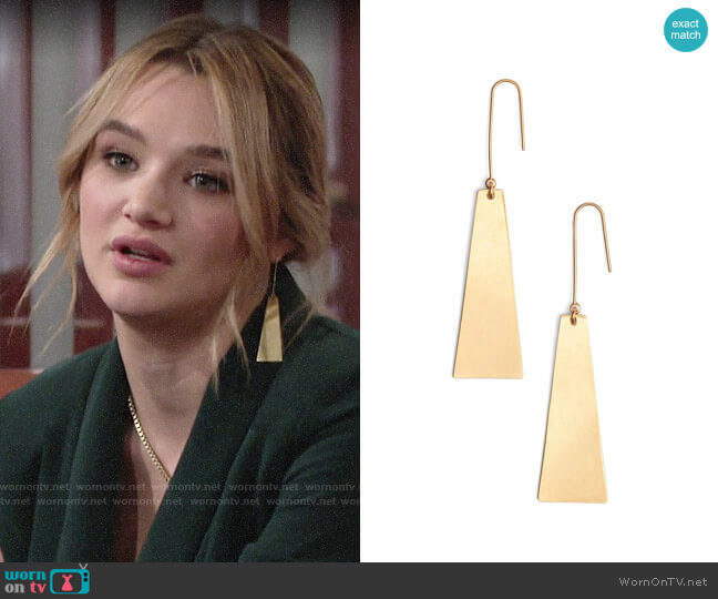 Madewell Petaldrop Earrings worn by Summer Newman (Hunter King) on The Young & the Restless