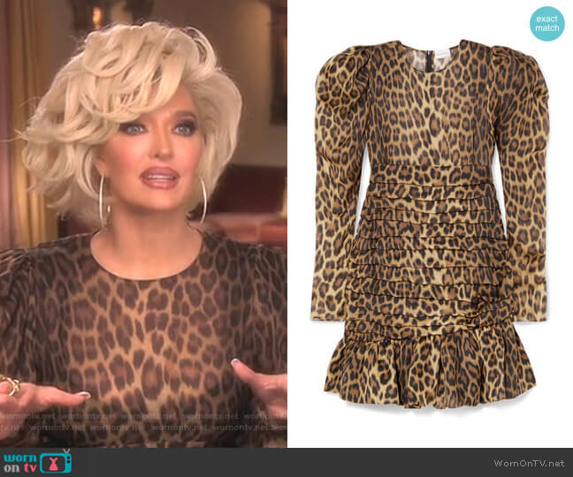 Borneo Dress by Magda Butrym worn by Erika Girardi  on The Real Housewives of Beverly Hills