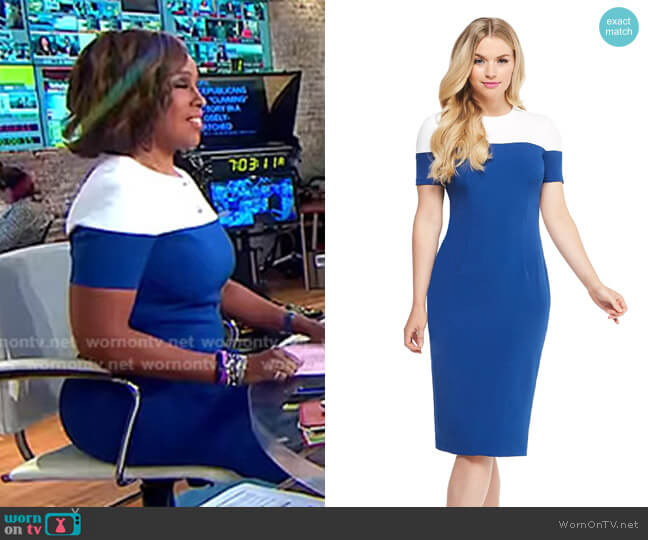 Carly Midi Dress by Maggy London worn by Gayle King (Gayle King) on CBS This Morning