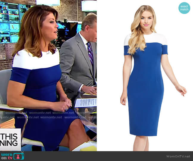 Carly Midi Dress by Maggy London worn by Norah O'Donnell  on CBS This Morning