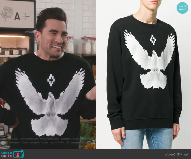 Dove Crewneck Sweatshirt by Marcelo Burlon Country of Milan worn by David Rose (Daniel Levy) on Schitts Creek