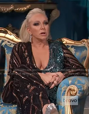 Margaret's sequin jumpsuit on The Real Housewives of New Jersey