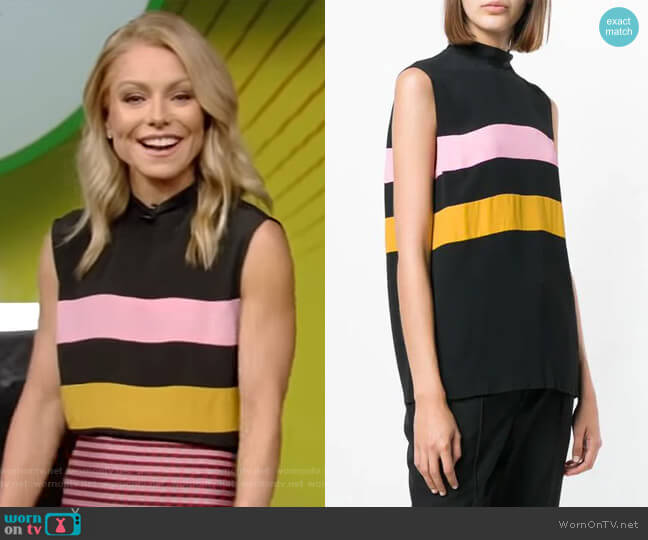 Colour-Block Sleeveless Top by Marni worn by Kelly Ripa  on Live with Kelly & Ryan