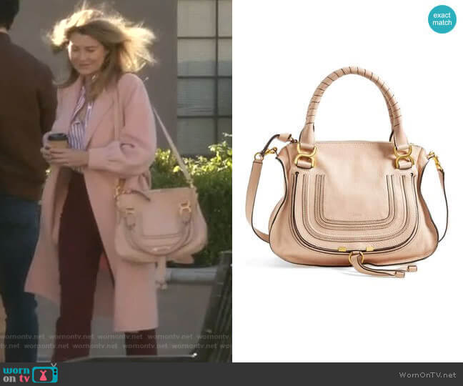 Medium Marcie Leather Satchel by Chloe worn by Meredith Grey (Ellen Pompeo) on Greys Anatomy