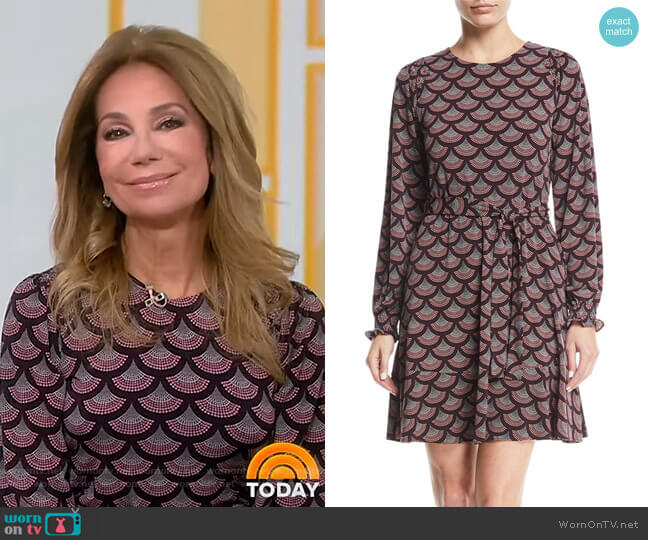 Chandelier Smocked-Cuff Dress by Michael Kors worn by Kathie Lee Gifford  on Today
