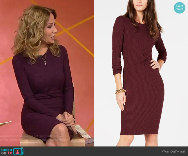 Twisted Ribbed-Knit Dress by Michael Kors worn by Kathie Lee Gifford  on Today