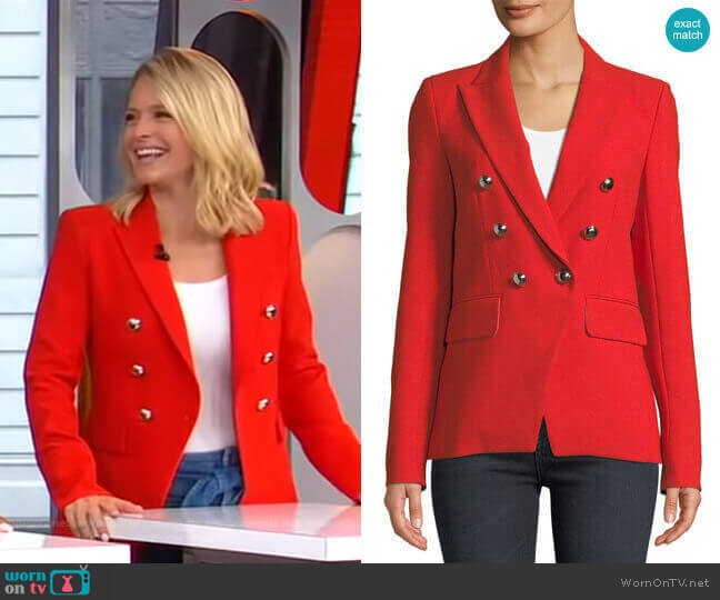 Miller Jacket by Veronica Beard worn by Sara Haines  on Good Morning America