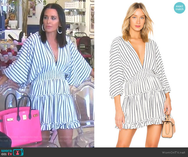 Luca Dress  by Misa Los Angeles worn by Kyle Richards  on The Real Housewives of Beverly Hills