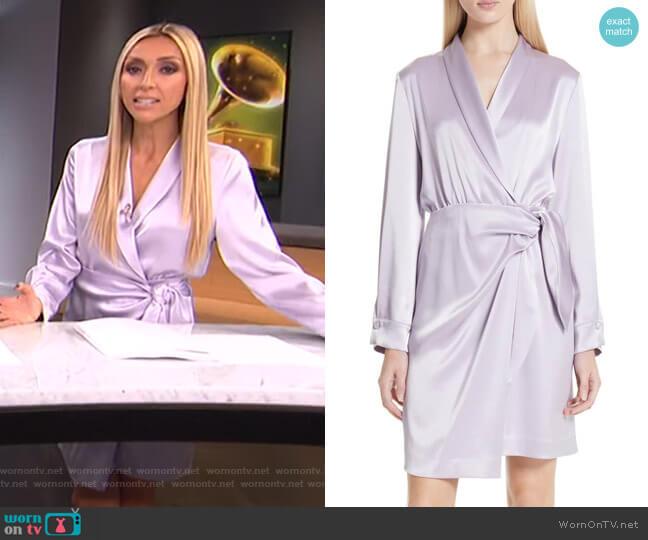 Siwa Satin Wrap Dress by Nanushka worn by Giuliana Rancic  on E! News