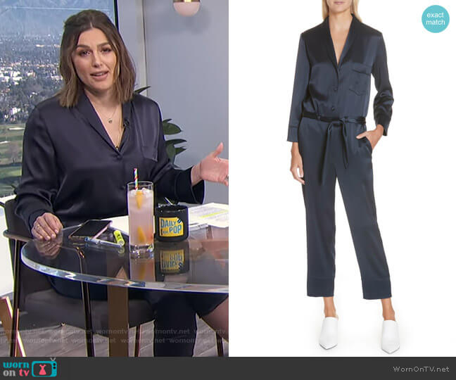 Yuma Jumpsuit by Nanushka worn by Carissa Loethen Culiner  on E! News