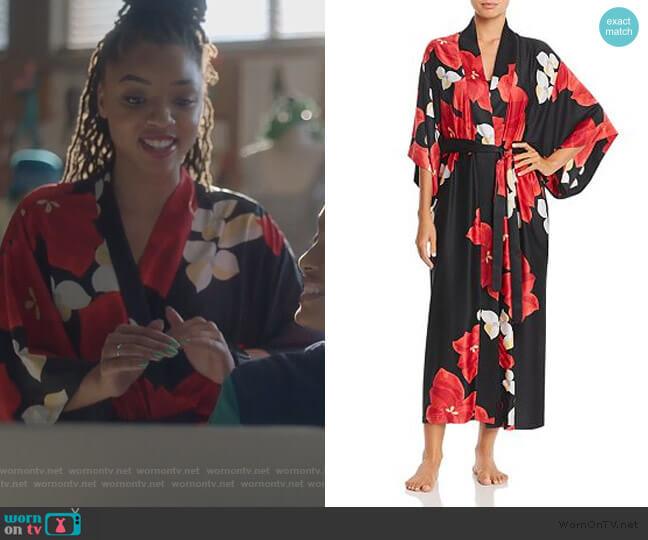 Ginza Robe by Natori worn by Jazlyn Forster (Chloe Bailey) on Grown-ish
