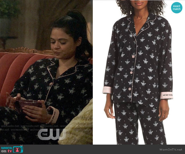PJ Salvage Print Flannel Pajamas worn by Mel Vera (Melonie Diaz) on Charmed