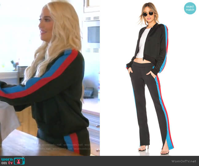 Crop Track Jacket and Stripe Track Pants by Pam & Gela worn by Erika Girardi  on The Real Housewives of Beverly Hills