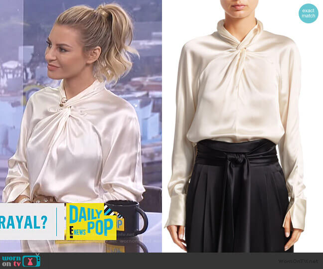 Twisted Silk Blouse by 3.1 Phillip Lim worn by Morgan Stewart  on E! News