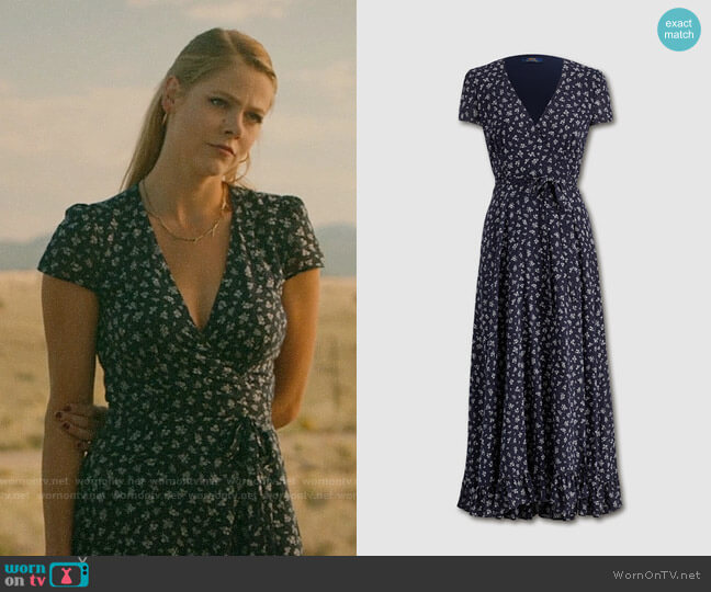 Polo Ralph Lauren Floral Print Midi Dress worn by Isobel Evans-Bracken (Lily Cowles) on Roswell New Mexico