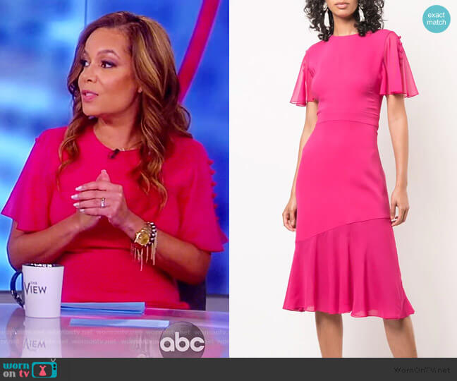 Victoria Flutter Sleeve Dress by Prabal Gurung worn by Sunny Hostin  on The View