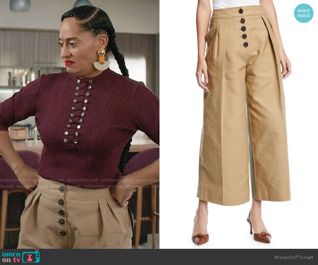 Rejina Pyo Brodie Trousers worn by Rainbow Johnson (Tracee Ellis Ross) on Blackish