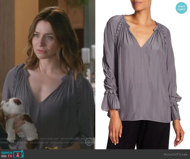 Sheila Top by Ramy Brook worn by Amelia Shepherd (Caterina Scorsone) on Greys Anatomy