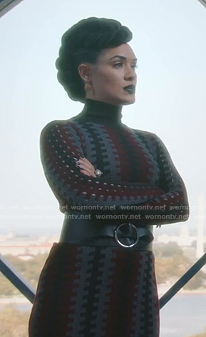 Reeva's turtleneck knit dress on The Gifted