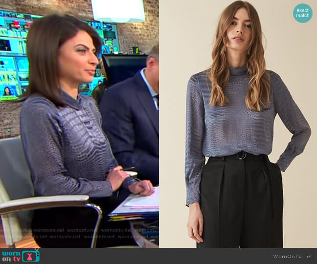 Della Blouse by Reiss worn by Bianna Golodryga  on CBS This Morning