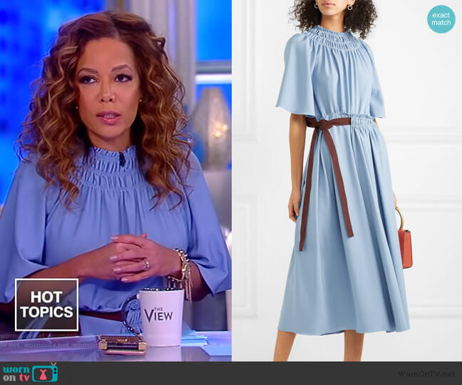 Belted shirred jersey dress by Roksanda worn by Sunny Hostin  on The View