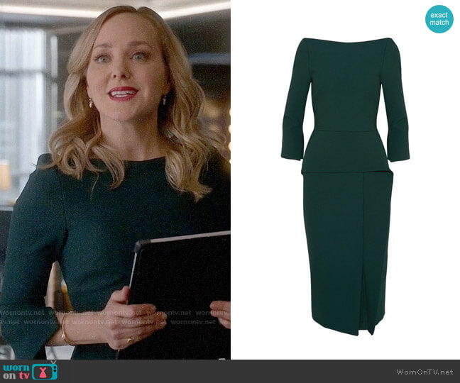 Roland Mouret Ardingly Dress worn by Marissa Morgan (Geneva Carr) on Bull