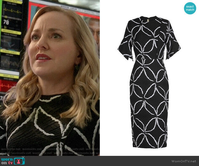 Roland Mouret Bancroft Dress worn by Marissa Morgan (Geneva Carr) on Bull