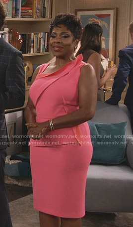 Rose's pink peplum dress on Fam