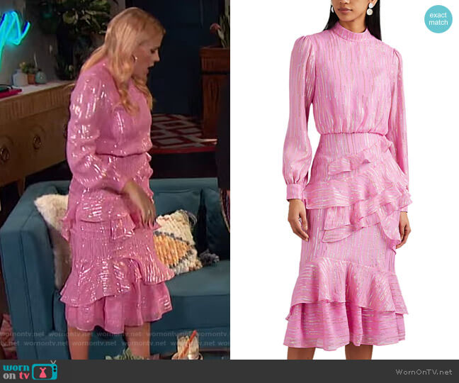 Isa Dress by Saloni worn by Busy Philipps  on Busy Tonight