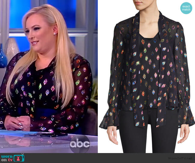Lauren Top by Saloni worn by Meghan McCain  on The View