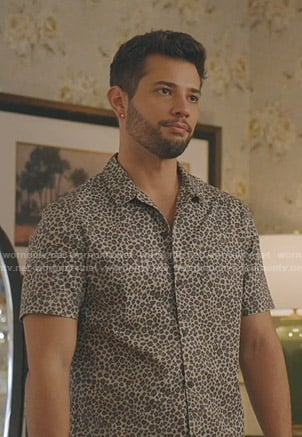 Sam's grey leopard short sleeve shirt on Dynasty
