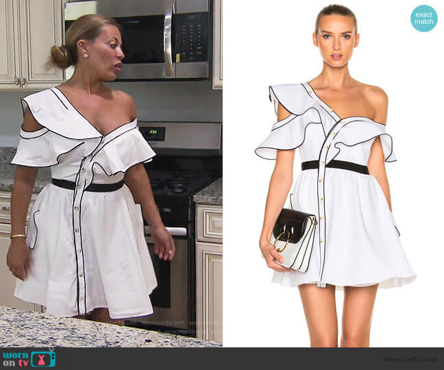 Cotton Poplin Frill Dress by Self Portrait worn by Dolores Catania  on The Real Housewives of New Jersey