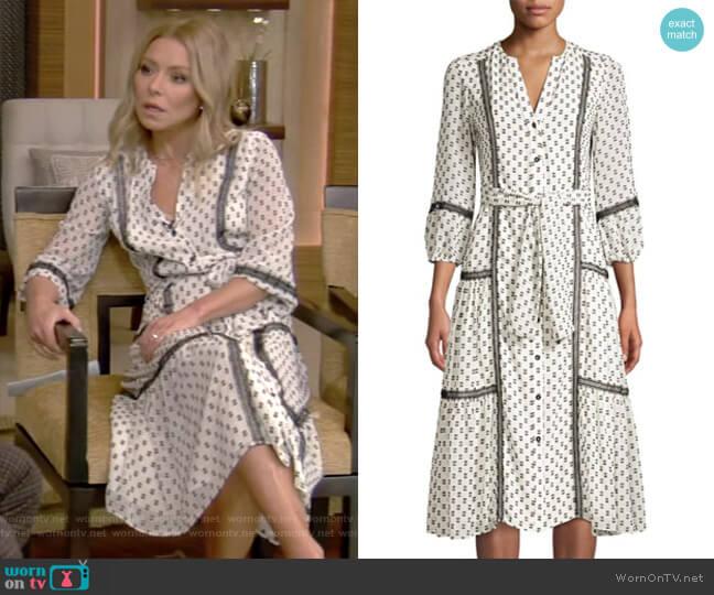 Sandrelli Dress by Shoshanna worn by Kelly Ripa (Kelly Ripa) on Live with Kelly & Ryan