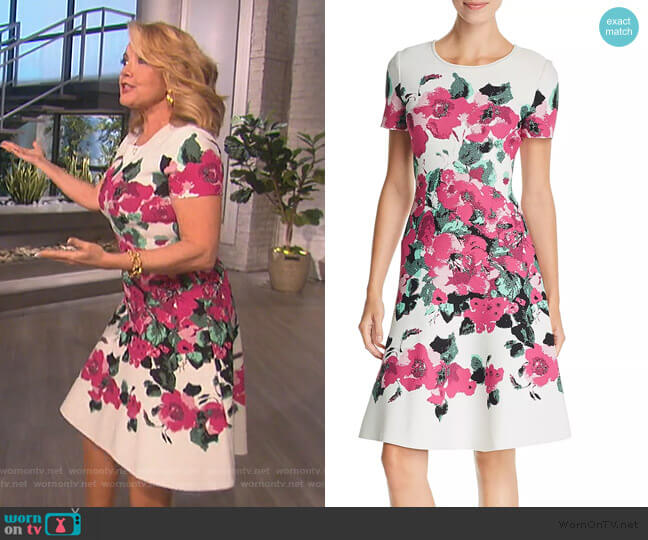Vibrant Floral Jacquard Dress by St. John by Melody Thomas Scott on The Talk
