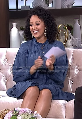 Tamera's denim shirtdress on The Real