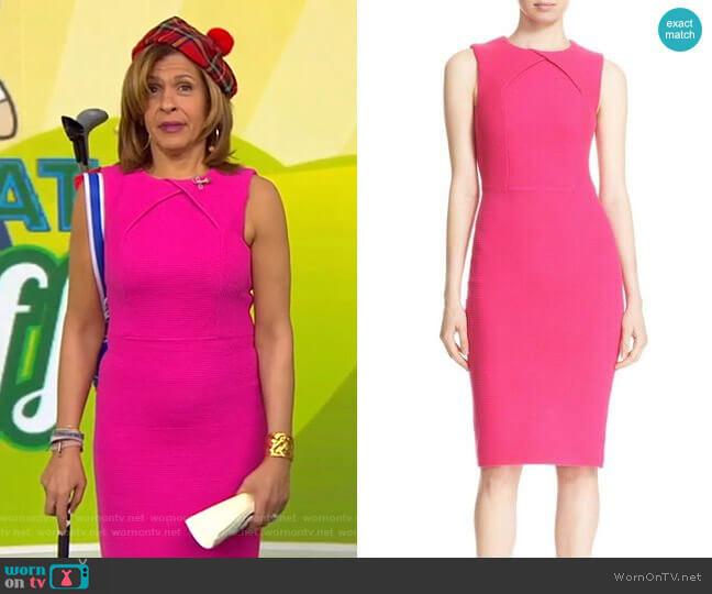 Tarala Body-Con Knit Midi Dress by Ted Baker worn by Hoda Kotb (Hoda Kotb) on Today