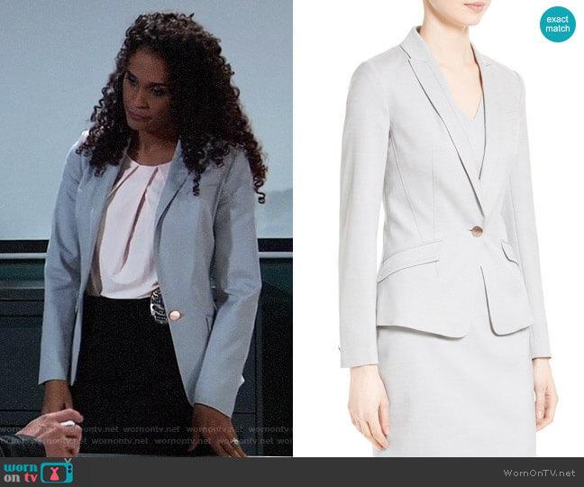 Ted Baker Radiia Suit Jacket worn by Jordan Ashford (Briana Nicole Henry) on General Hospital