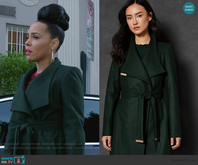 Sandra Coat by Ted Baker worn by Tegan Price (Amirah Vann) on HTGAWM