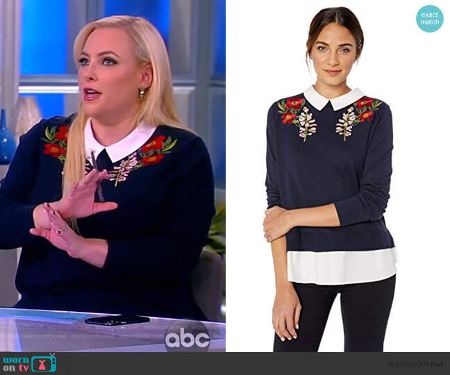 Toriey Sweater by Ted Baker worn by Meghan McCain  on The View