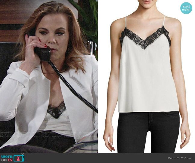 The Kooples Silk & Lace Camisole worn by Phyllis Newman (Gina Tognoni) on The Young & the Restless