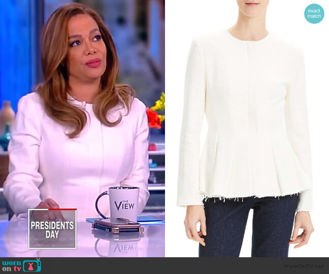 Movement Canvas Jacket by Theory worn by Sunny Hostin  on The View