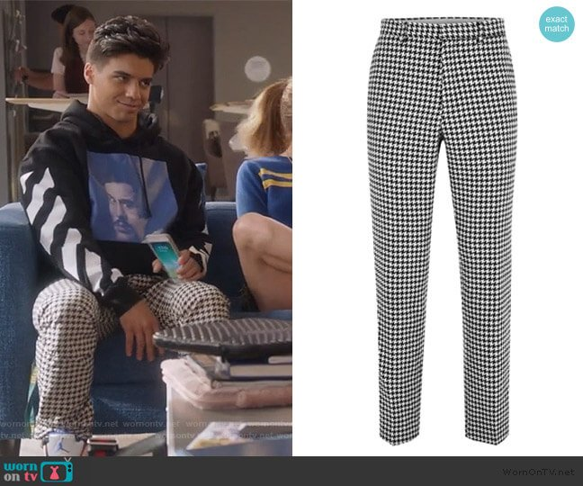 Roe Skinny Fit Trousers by Topman worn by Vivek Shah (Jordan Buhat) on Grown-ish