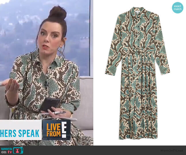 Python Pleated Shirtdress by Topshop worn by Melanie Bromley  on E! News