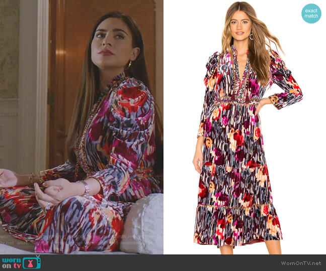 Ziggy Dress by Ulla Johnson worn by Cristal Jennings (Daniella Alonso) on Dynasty