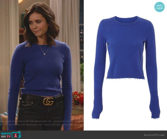 Valencia Cashmere Sweater by Intermix worn by Clem (Nina Dobrev) on Fam
