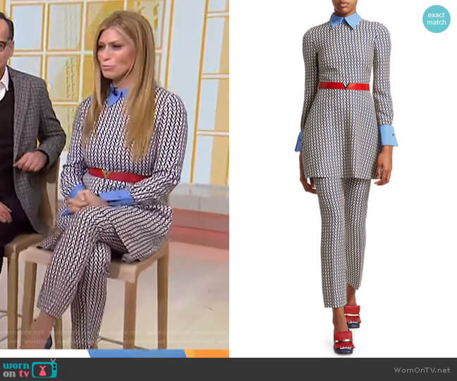 Optical Long Sleeve Top and Pants by Valentino worn by Jill Martin  on Today