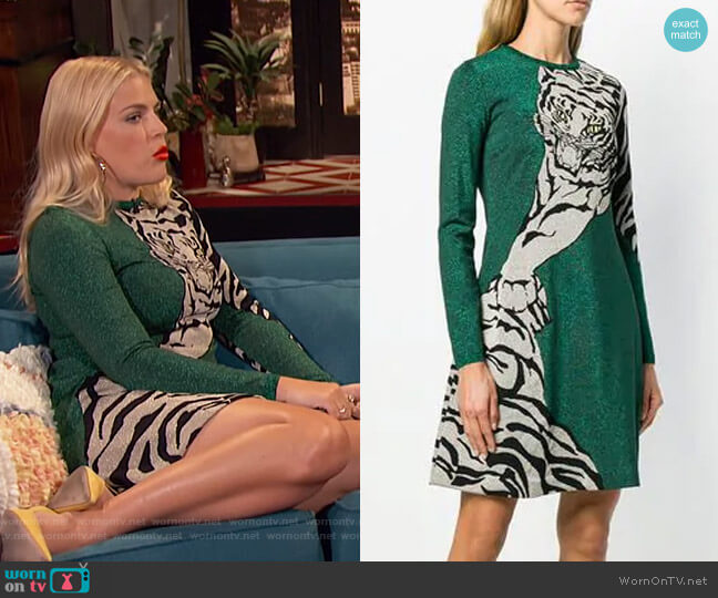 Tiger Re-Edition Dress by Valentino worn by Busy Philipps  on Busy Tonight