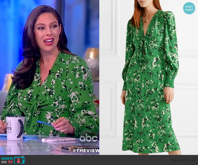 Amber floral-print silk-blend midi Dress by Veronica Beard worn by Abby Huntsman  on The View