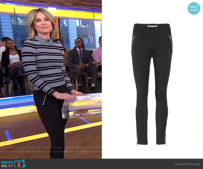 Ash Seamed Skinny Trousers by Veronica Beard worn by Amy Robach  on Good Morning America