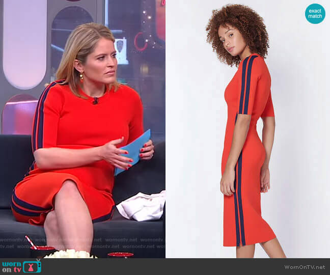 Audrie Dress by Veronica Beard worn by Sara Haines  on Good Morning America